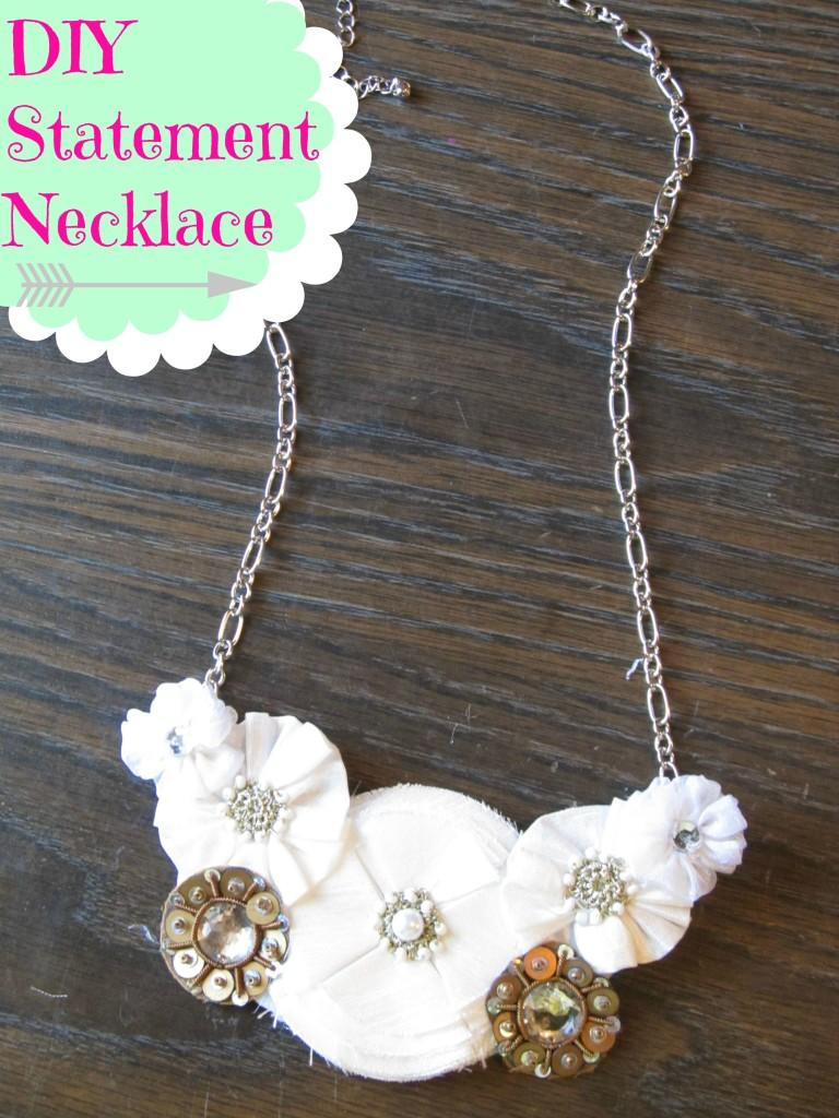 {DIY} Statement Necklace under $8