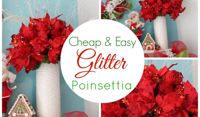 Diy glitter poinsettia