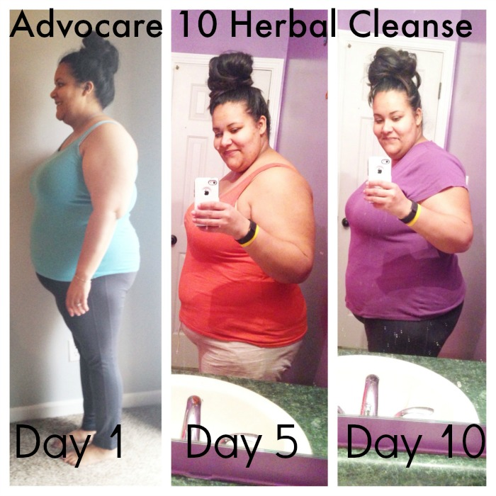 Advocare 10 Day Herbal Cleanse Before & After