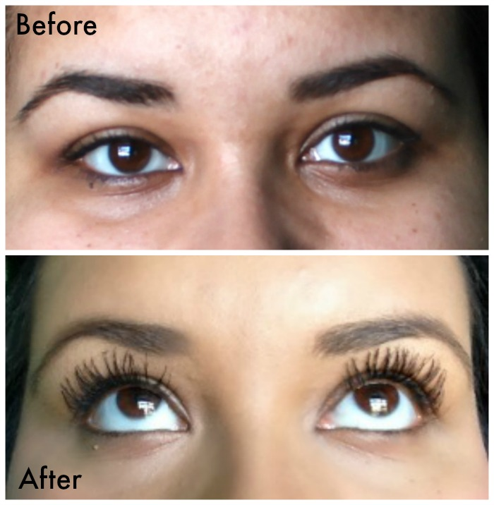 Younique Moodstruck 3D fiber lashes before & after