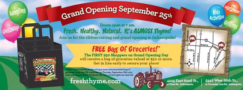 Fresh Thyme Indianapolis Grand Opening